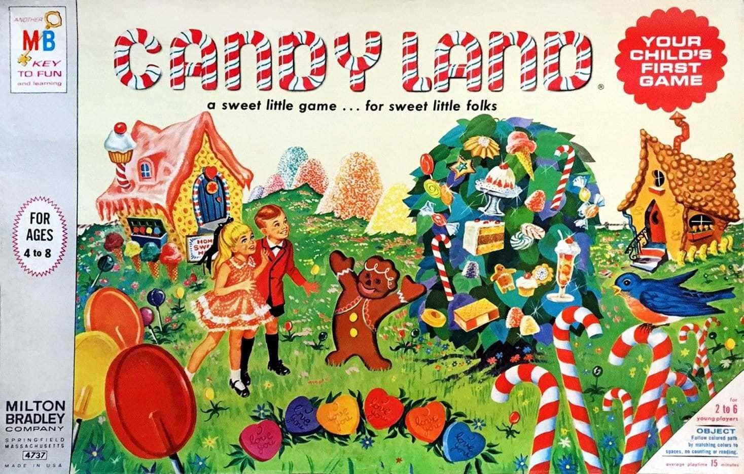 Candyland game 1960s