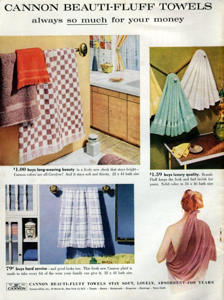 Cannon Beauti-Fluff Towels from 1959