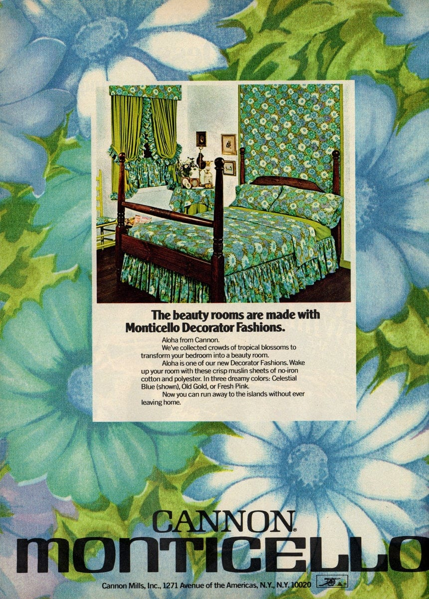 Cannon sheets - Monticello decorator home fashions - Blue flowers
