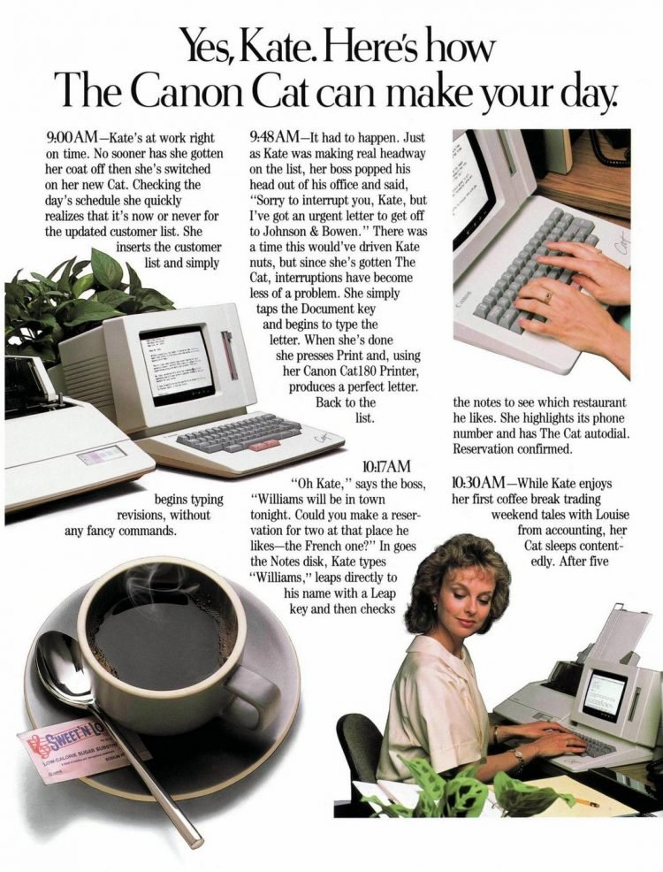 Canon Cat word processor from 1987 (4)