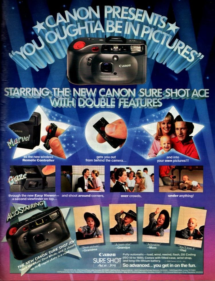 Canon Sure Shot Ace vintage point and shoot camera from 1988