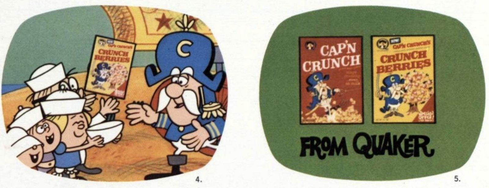 Cap'N Crunch cereals and Crunch Berries (c1970)