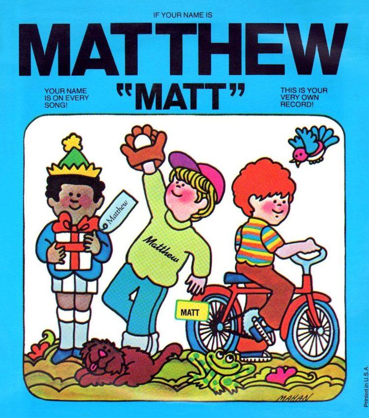 Captain Kangaroo personalized record - Matthew - Matt