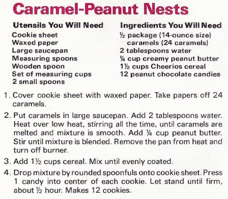 Caramel-peanut nests with a candy egg