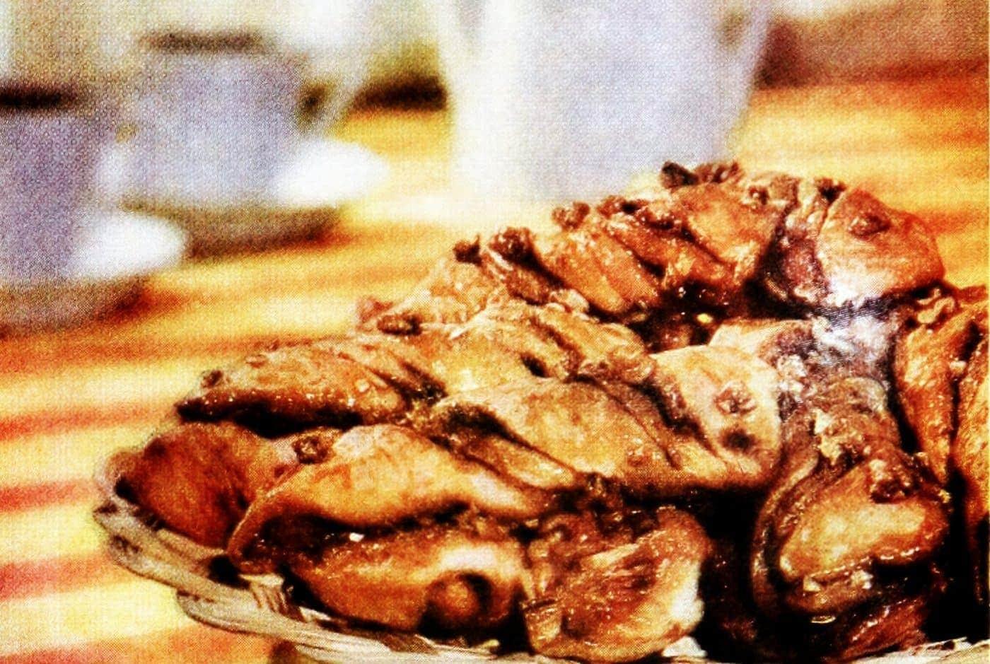 Caramel-pecan cinnamon twist 'coffee breakers' (1959)