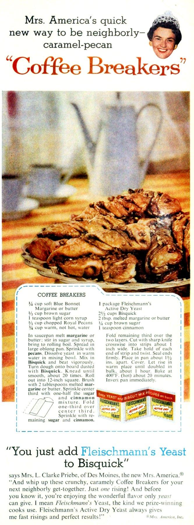 Caramel-pecan cinnamon twist coffee breakers