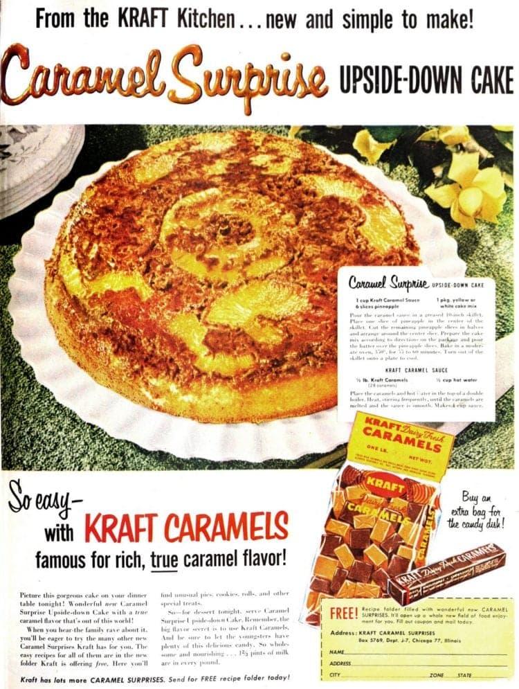 Caramel surprise upside-down cake