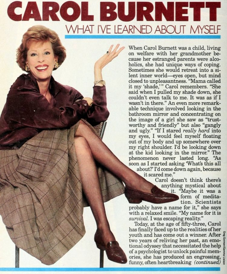 Carol Burnett What I've learned about myself (1986)