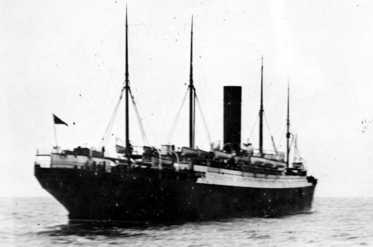 Carpathia with Titanic lifeboats