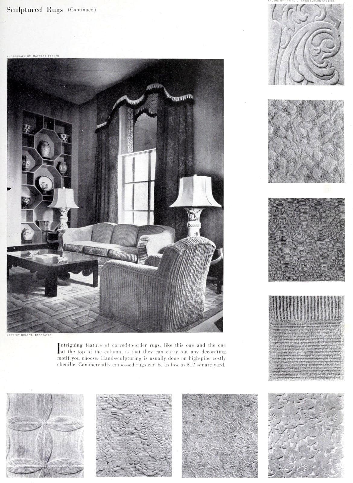 Carpet textures from 1949