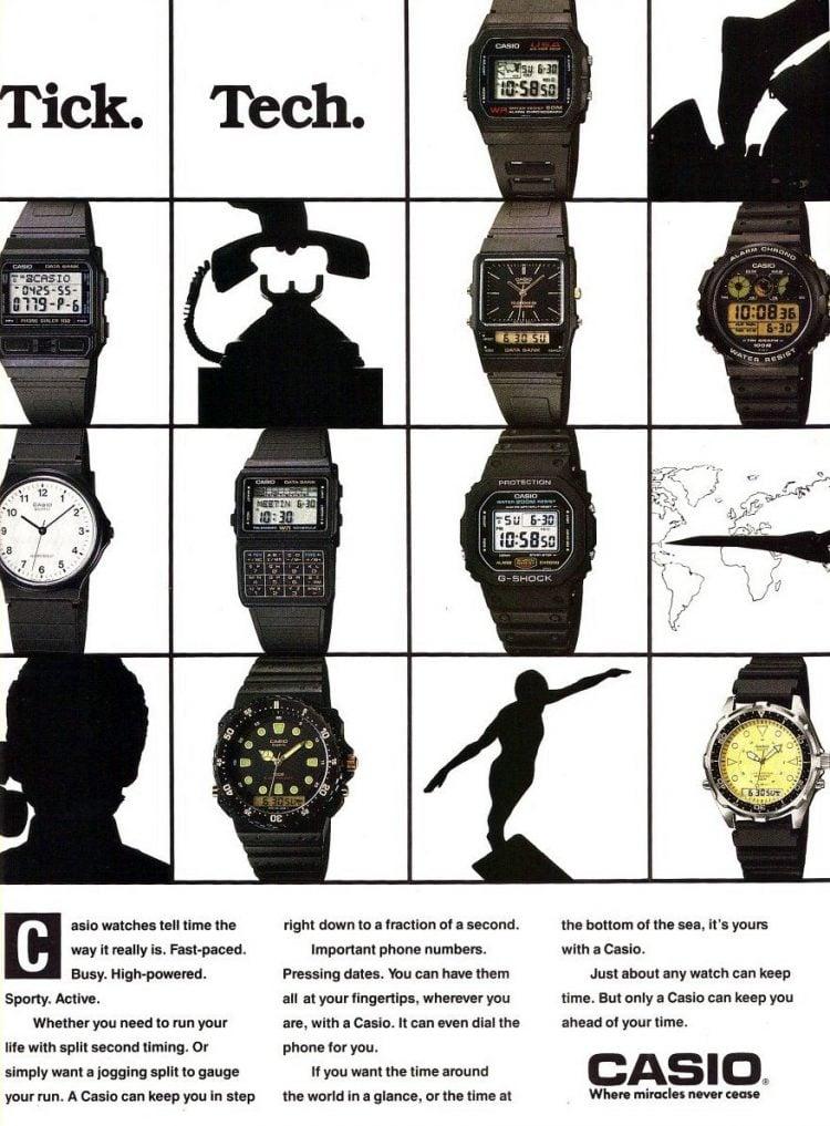 Casio watches 1989