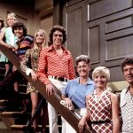 Cast of The Brady Bunch - Original TV series - on the stairs