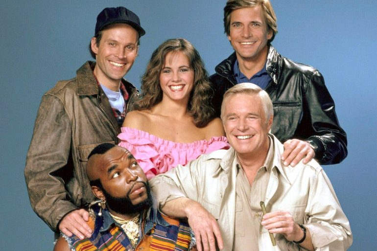 Cast of original A-Team TV show