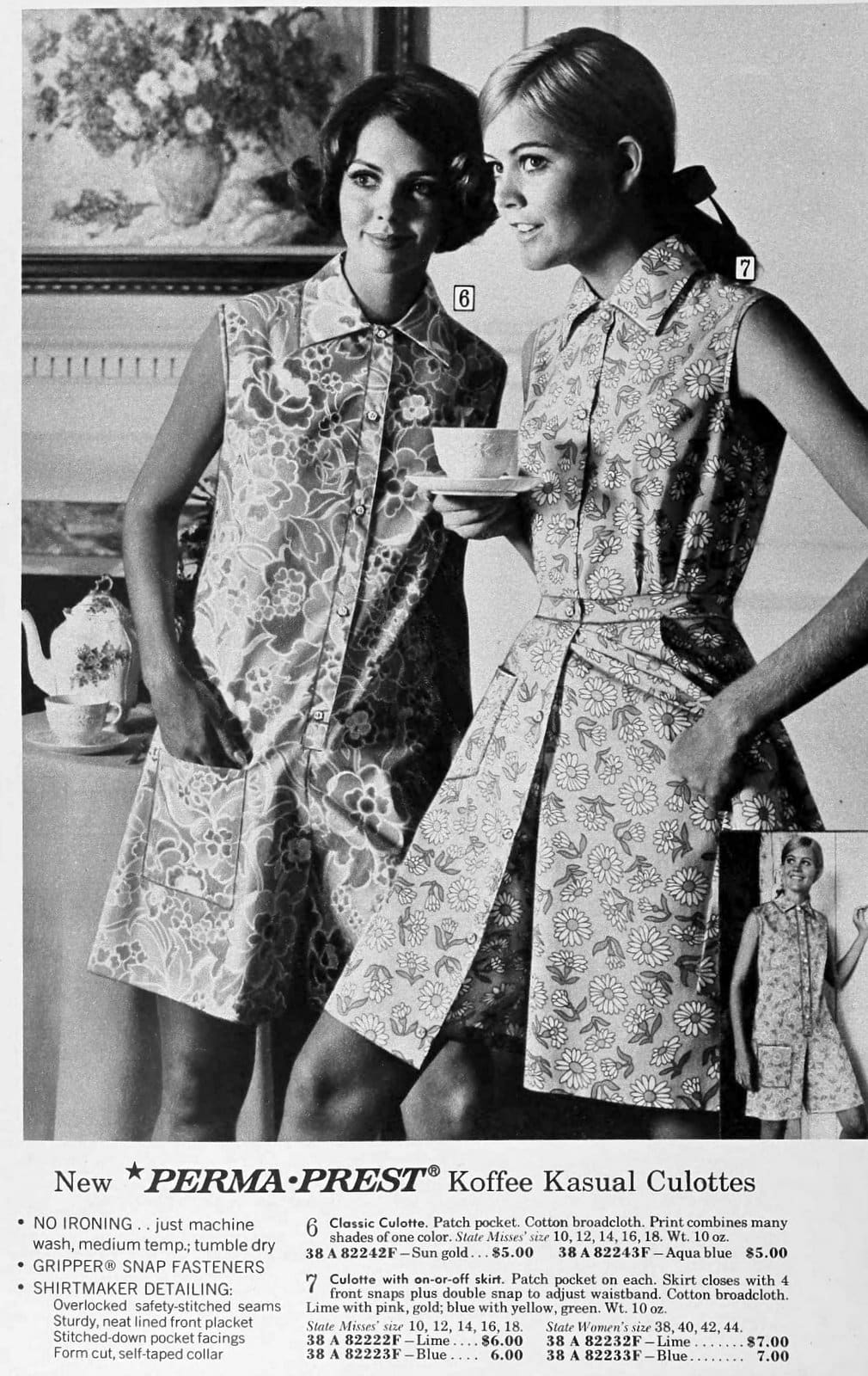 Casual culottes for women (1969)