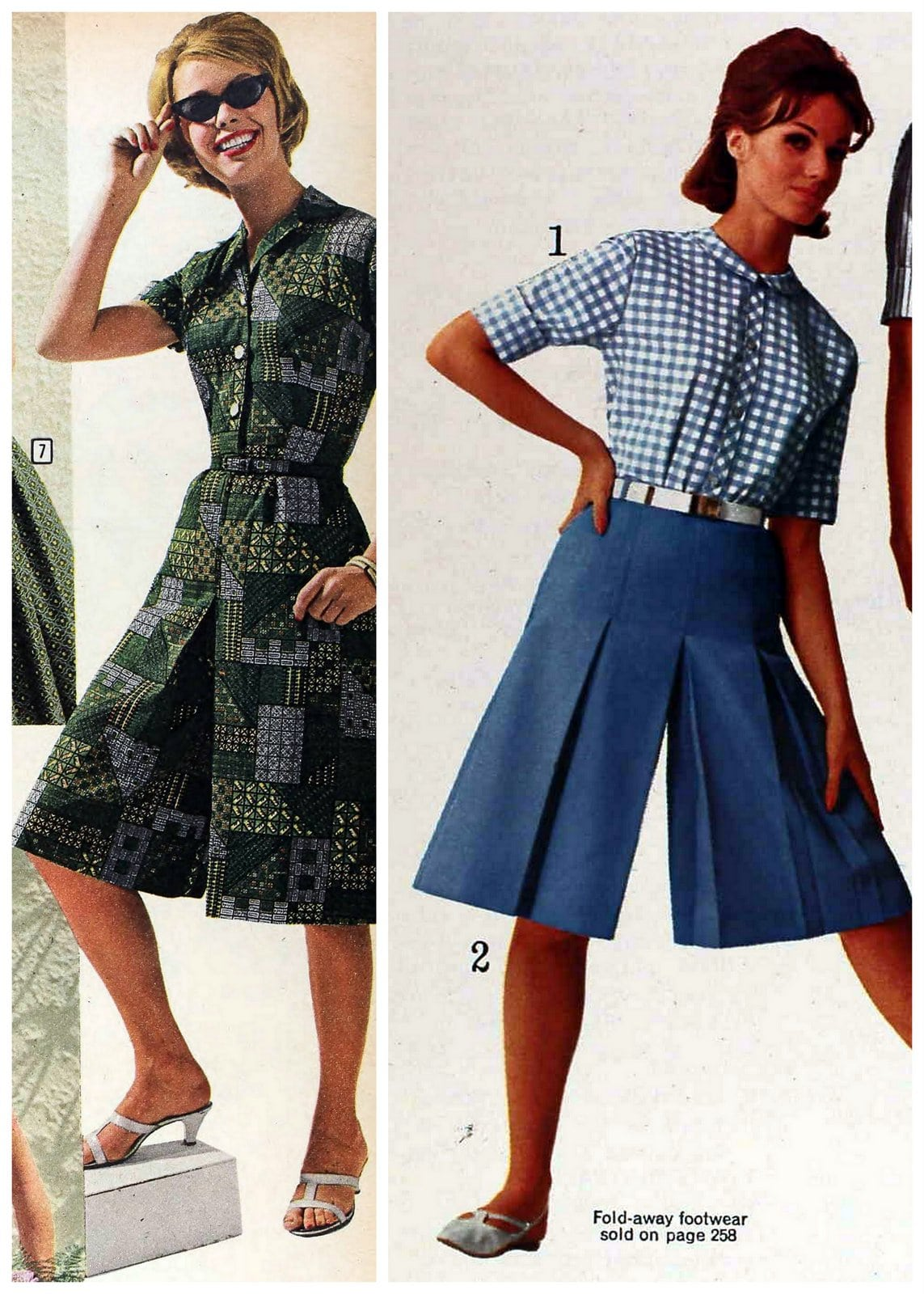 Casual culottes in the sixties