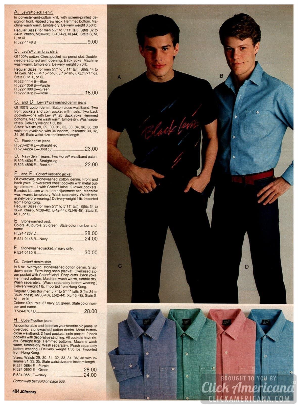 Levi's t-shirts and chambray shirts