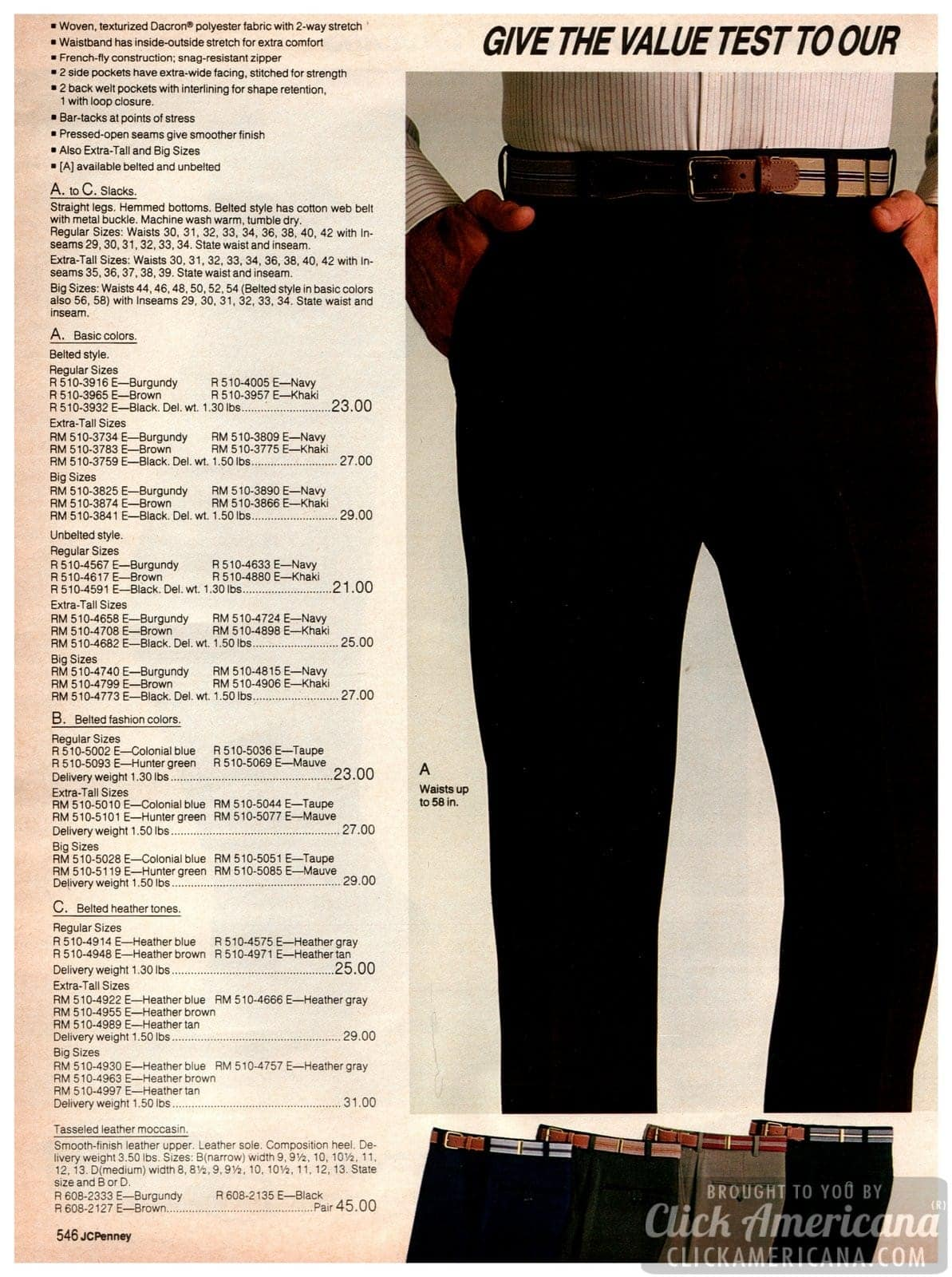 Basic slacks for men, with straight legs and made of polyester