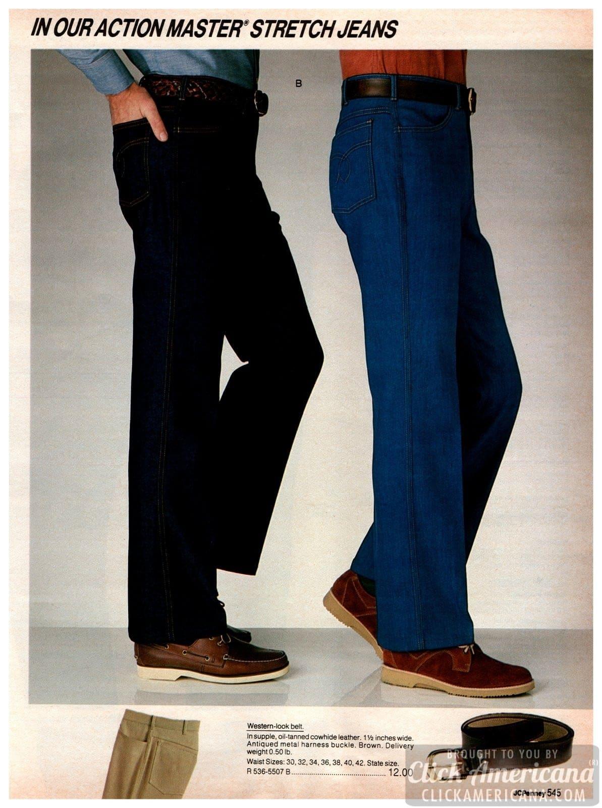 Action Master stretch jeans for men in dark wash and blue denim