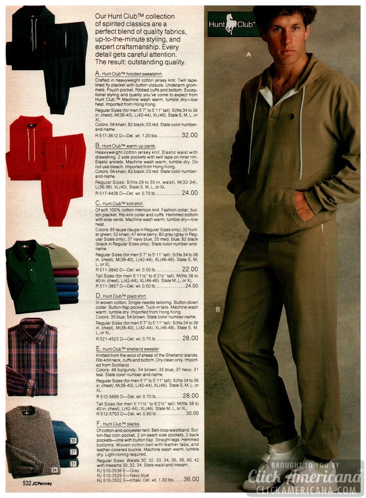 Get sporty, guys! Vintage Hunt Club clothes