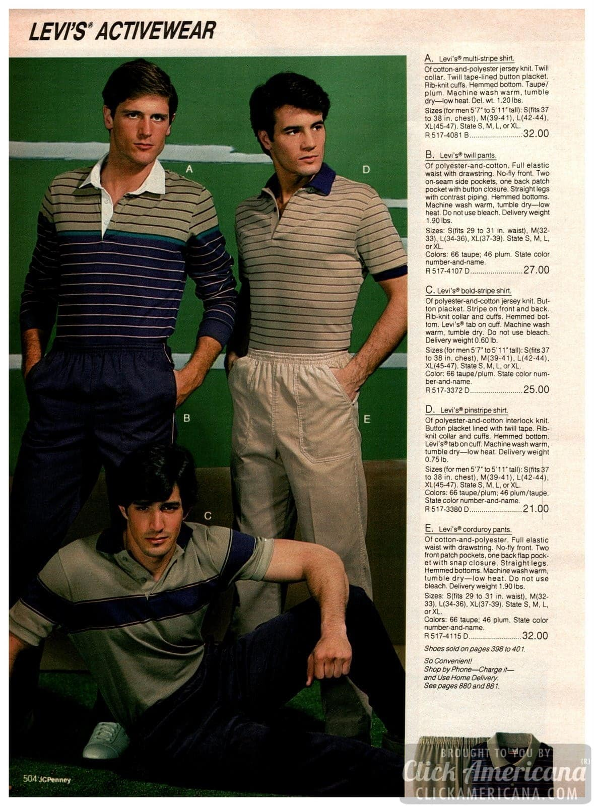 Levi's activewear from the '80s