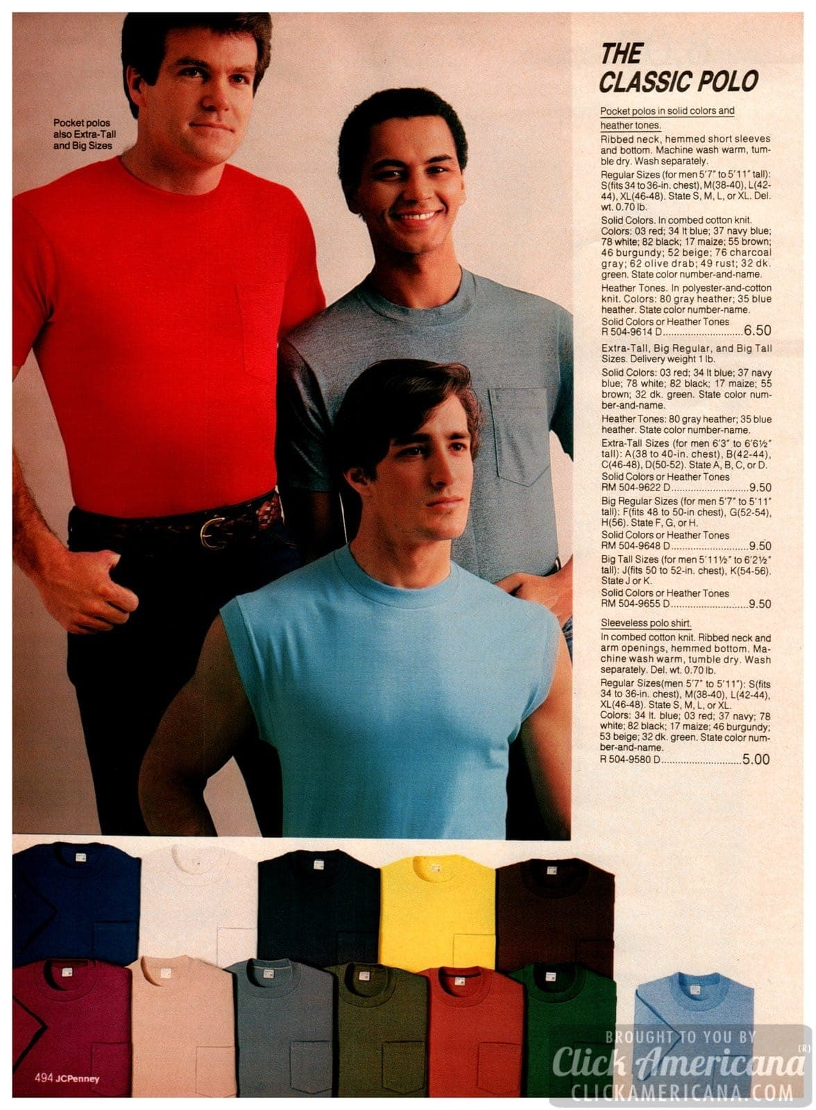 Classic pocket polo shirts with ribbed necks and short sleeves - also sleeveless polo t-shirts
