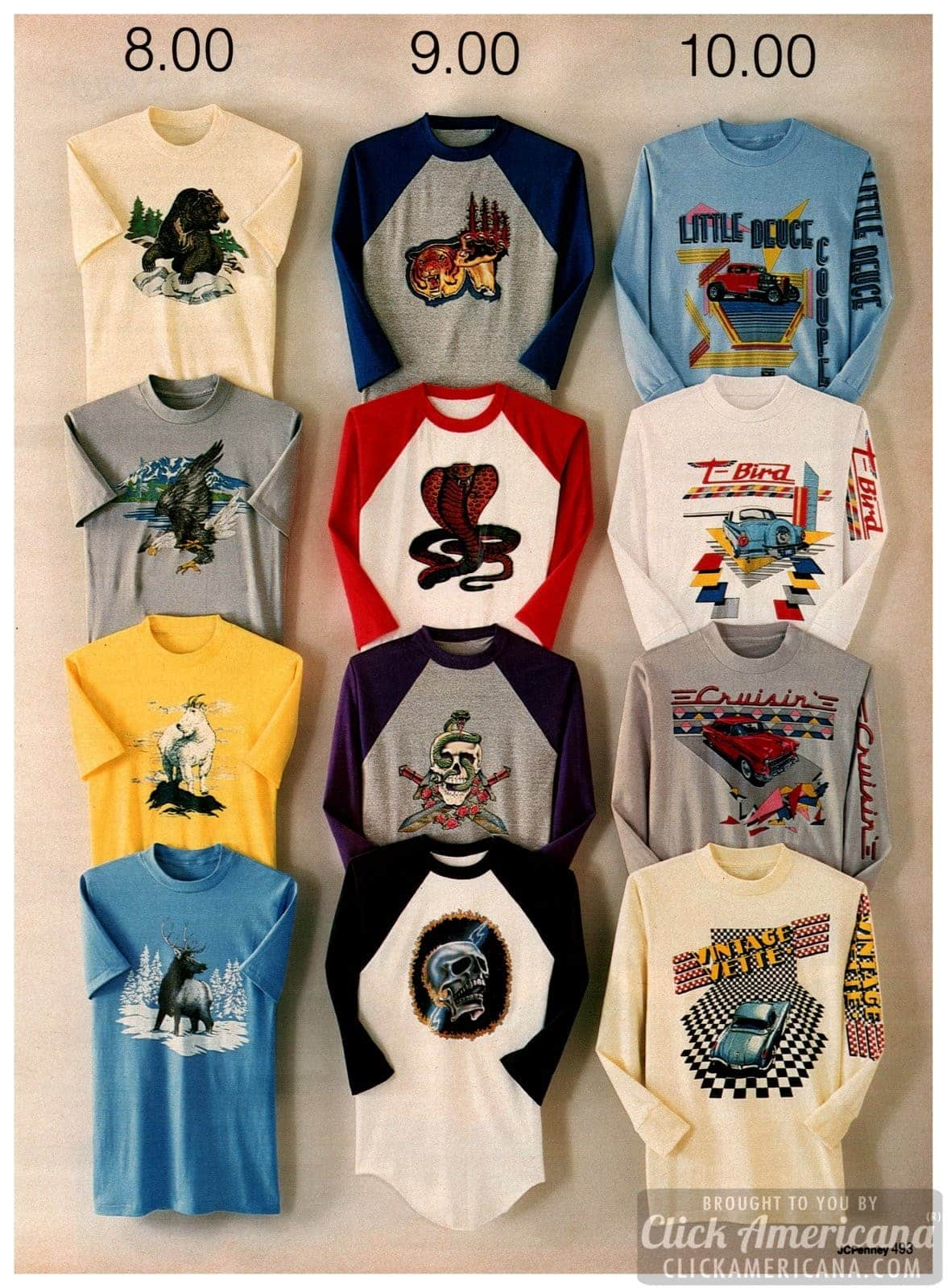 Vintage '80s novelty t-shirts for guys