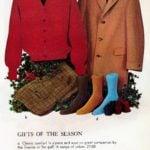 Vintage sweaters, slacks, outercoats and socks for men