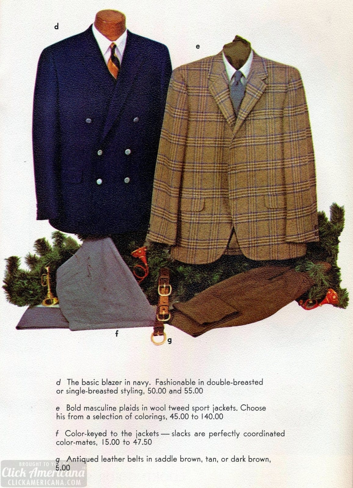 Vintage sports jackets and blazers for men - plus matching slacks