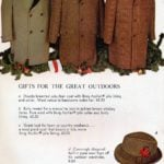 Vintage double-breasted suburban coats and hats