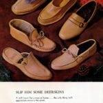 Vintage deerskin slippers for men
