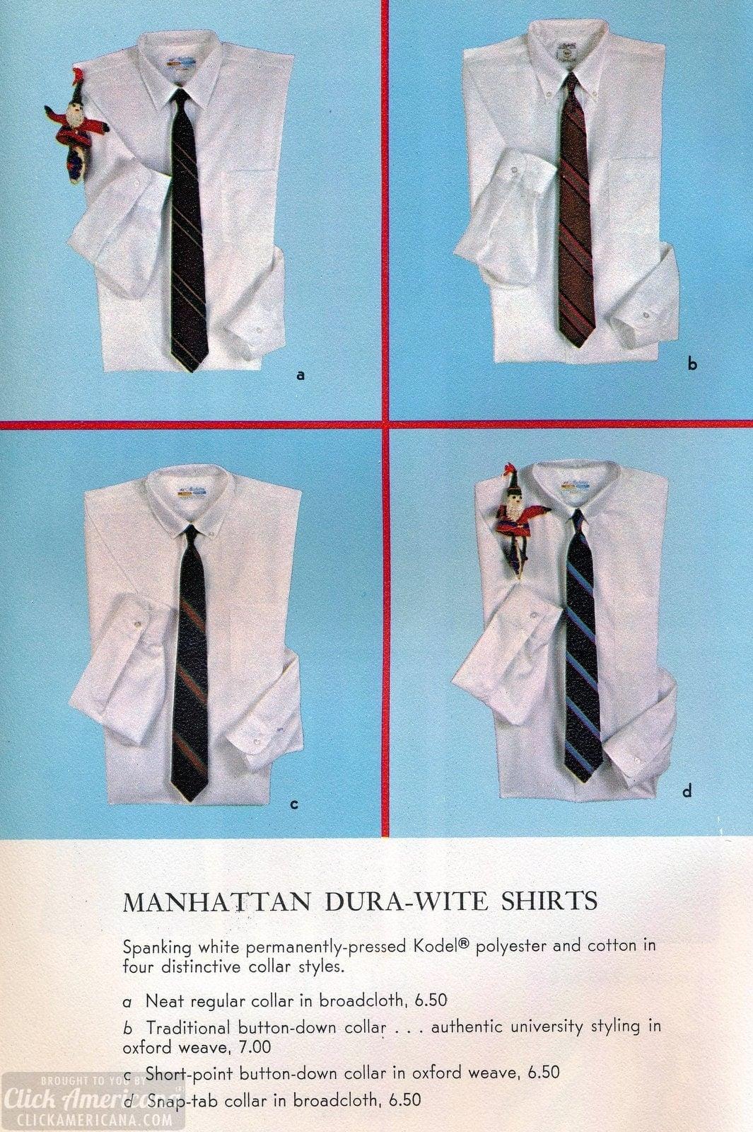 Manhattan Dura-Wite polyester-cotton shirts for men