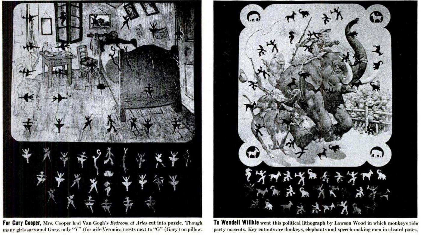Celebrity jigsaw puzzles (1944)