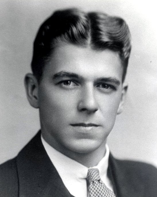 Celebrity yearbook photos - Young Ronald Reagan