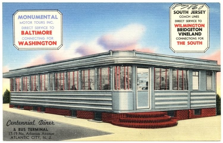 Centennial Diner and bus terminal - Atlantic City NJ