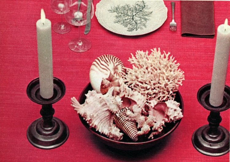 Centerpieces for your dining table - 1958