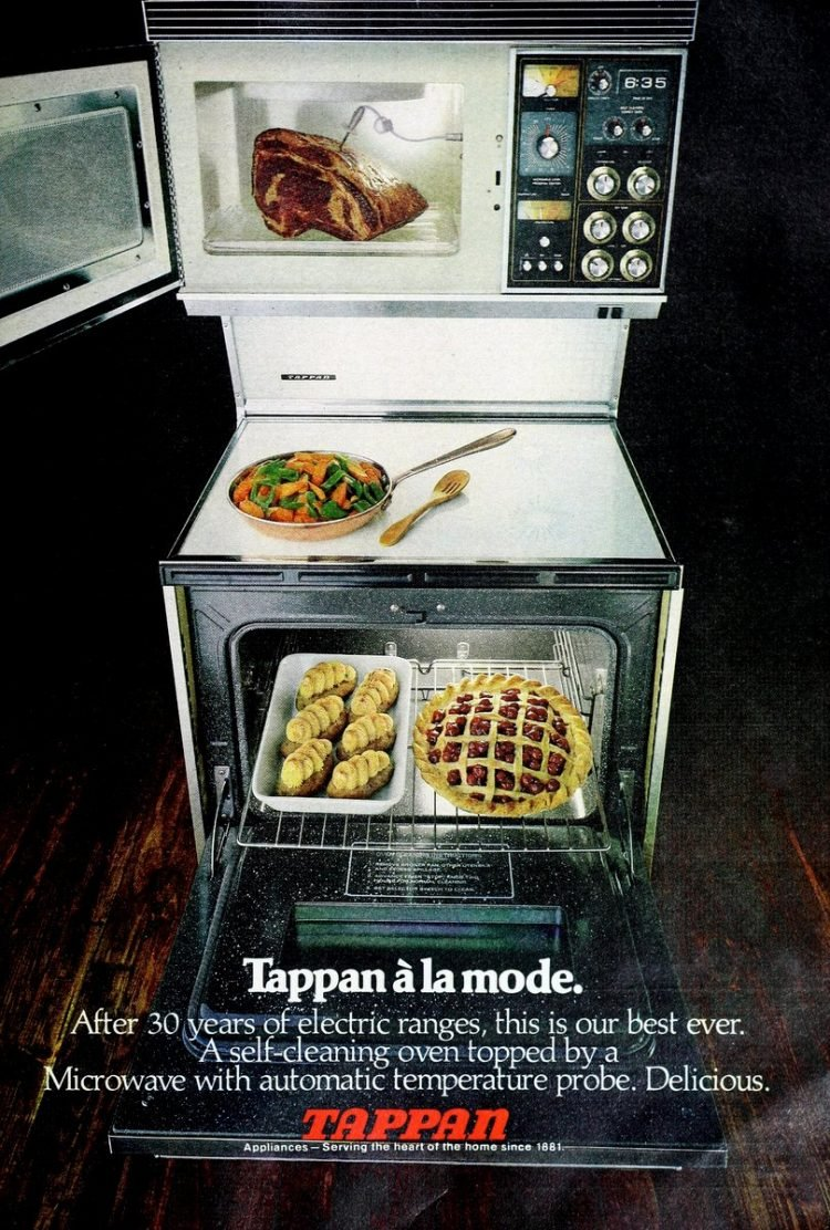 Ceramic flat-top kitchen ranges from Tappan in 1978