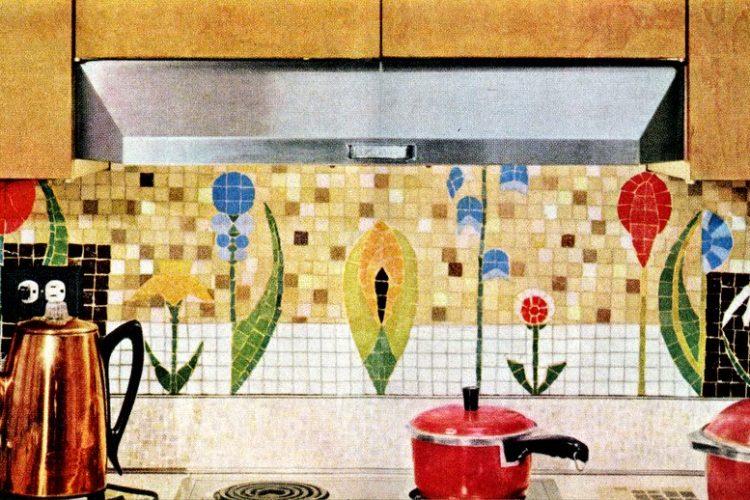 Retro Style Tile 60s Ceramic Charm In The Kitchen Click Americana