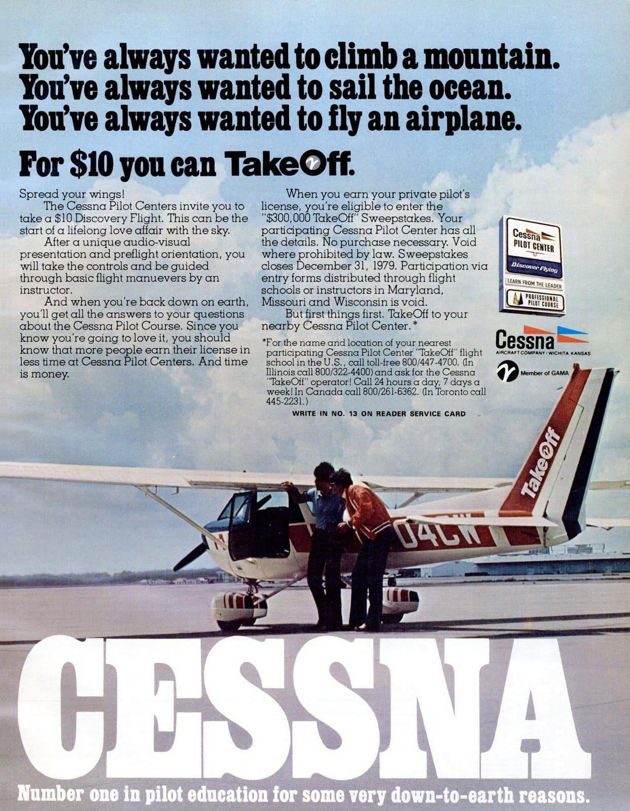 Cessna TakeOff flight school (1977)