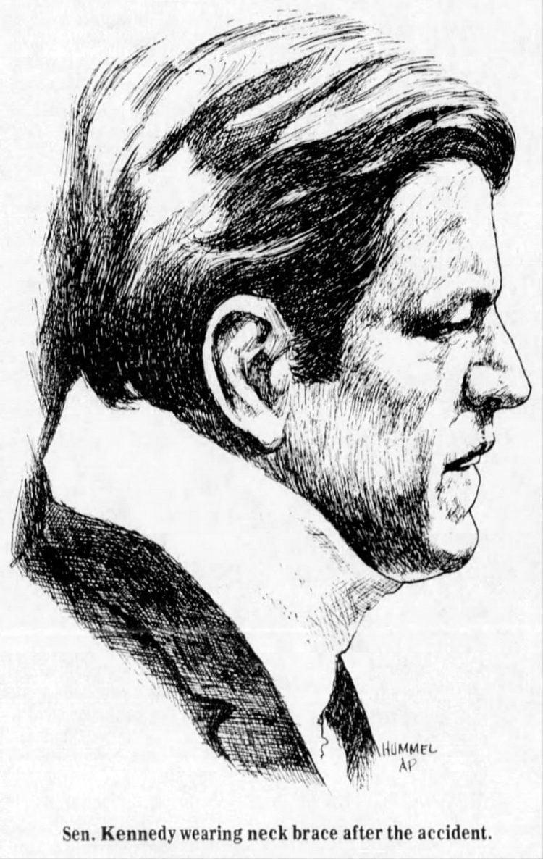 Chappaquiddick - Kennedy illustration 1969