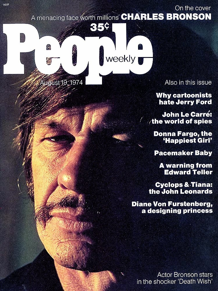Charles Bronson on cover of People magazine 1974