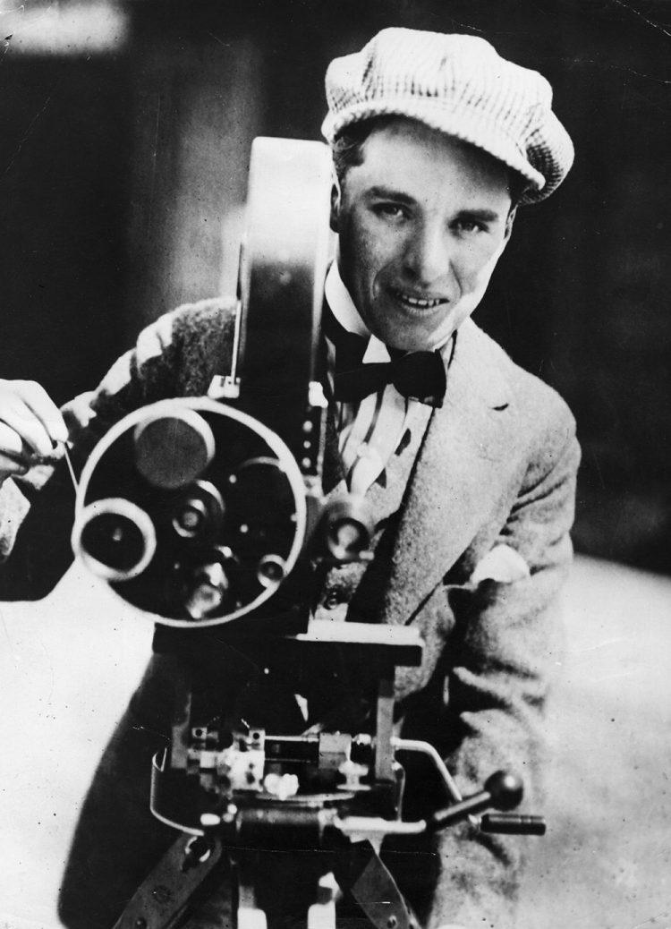 Charles Chaplin behind the camera