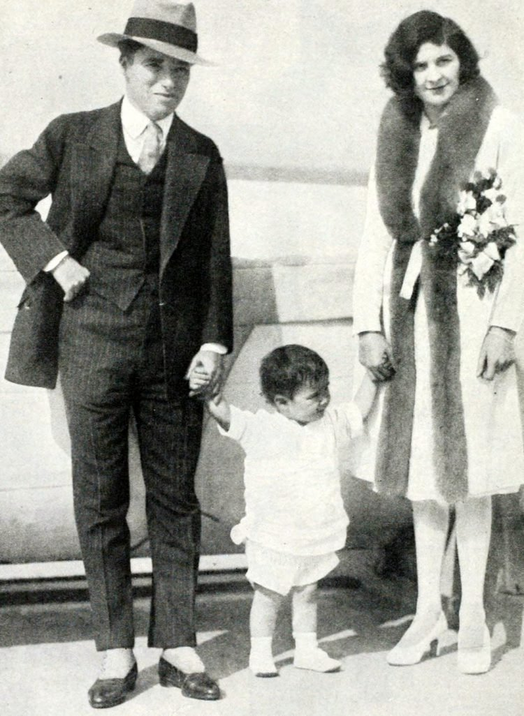 Charles Chaplin with wife Lita Grey Chaplin 1920s
