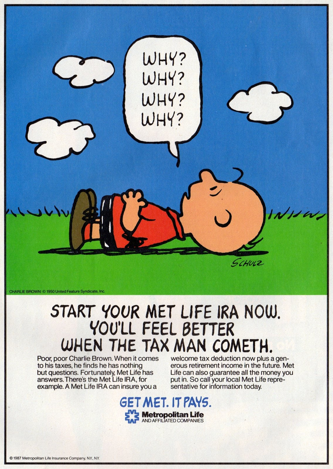 Charlie Brown - Peanuts for Met Life (1987)
