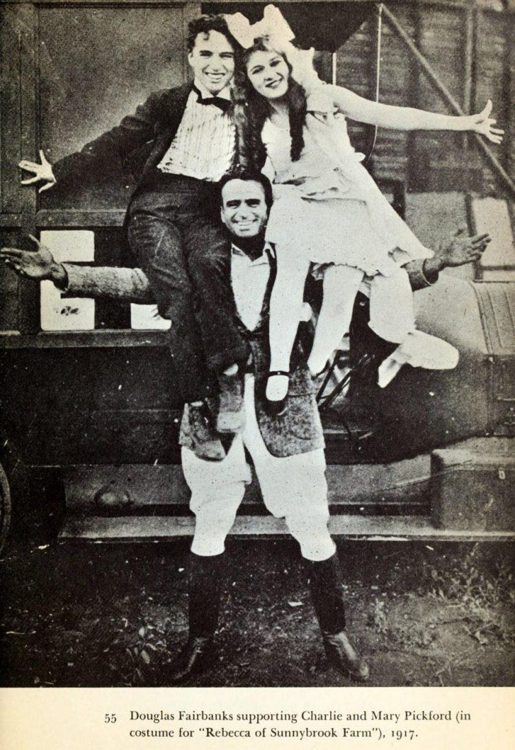 Charlie Chaplin, Mary Pickford and Douglas Fairbanks 1917