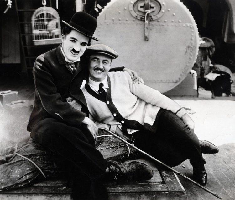 Charlie Chaplin on set