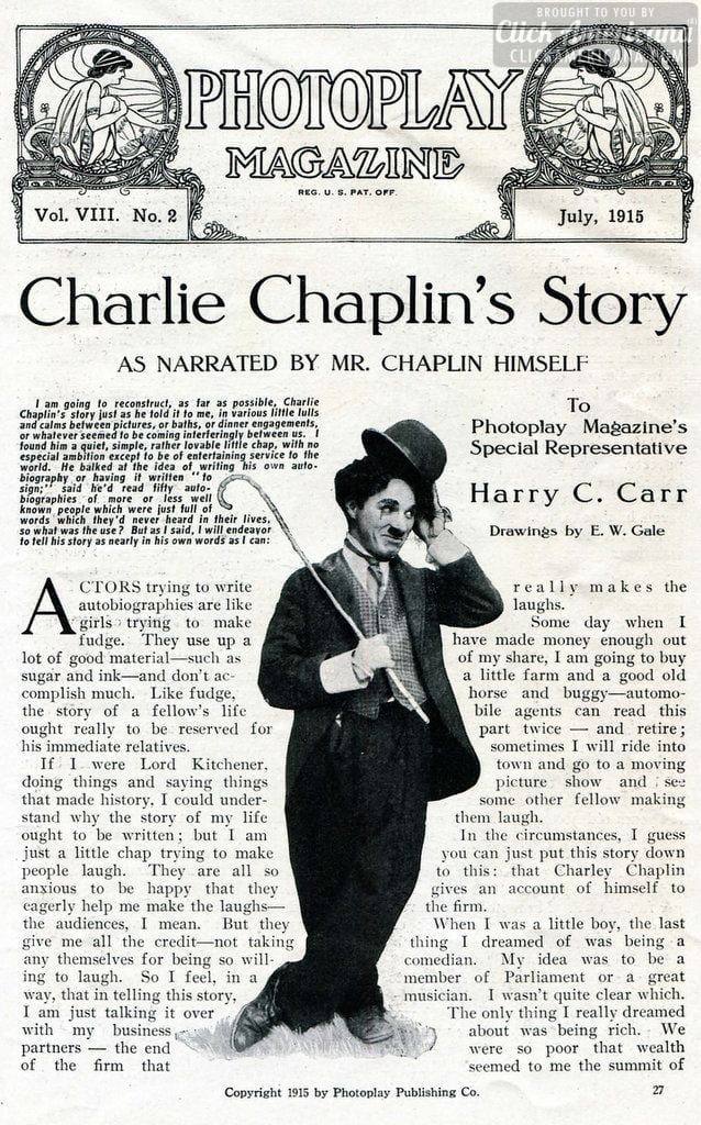 The early life of Charlie Chaplin (1915)