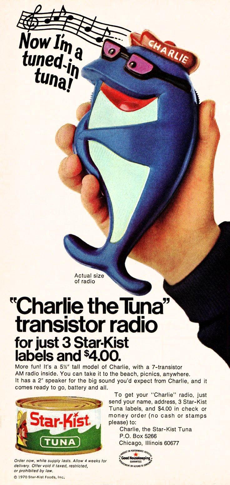 Charlie the Tuna transistor radio (1970)