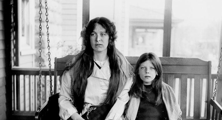 Charlotte Collyer and daughter - Titanic survivors