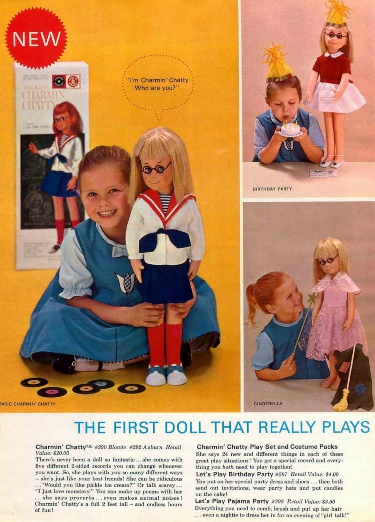 Charmin; Chatty - Vintage dolls from the sixties - c1963