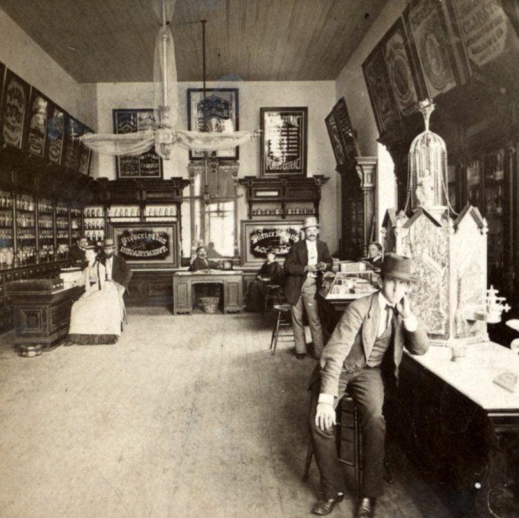 Chas. C. Wells, Druggist, New Brunswick, N.J. 1870